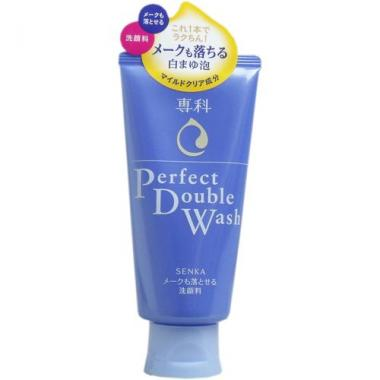 SHISEIDO Senka Perfect Double Wash пенка для снятия макияжа и умывания