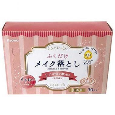 Салфетки для снятия макияжа c гиалуроновой кислотой Kyowa