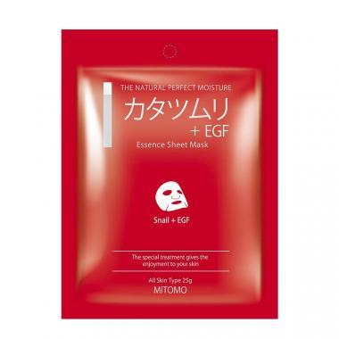 Mitomo маска для лица с Экстрактом улитки и EGF