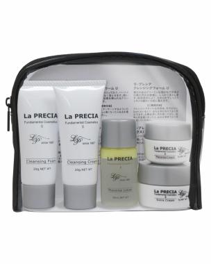 La PRECIA 7 days Trial Set CREAM Набор миниатюр с очищающим кремом