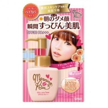 SANA Skin care base SPF 30PA+++  Основа под макияж увлажняющая, светлый беж