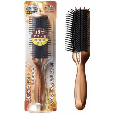 Щетка массажная с кератином и антистатическим эффектом Vess Anti-Static Hair Brush
